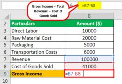 Business Gross Income